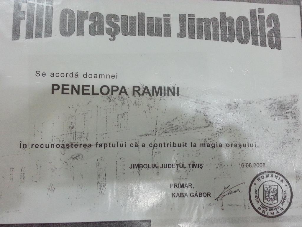 Fii orasului Jimbolia Penelopa Ramini Magician