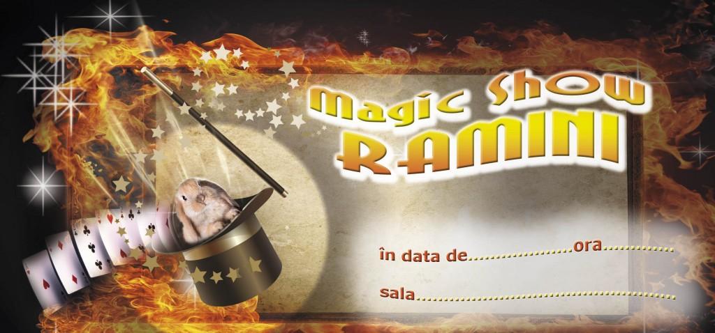 Invitatie Magic Show - Penelopa Ramini si Mihai Ramini