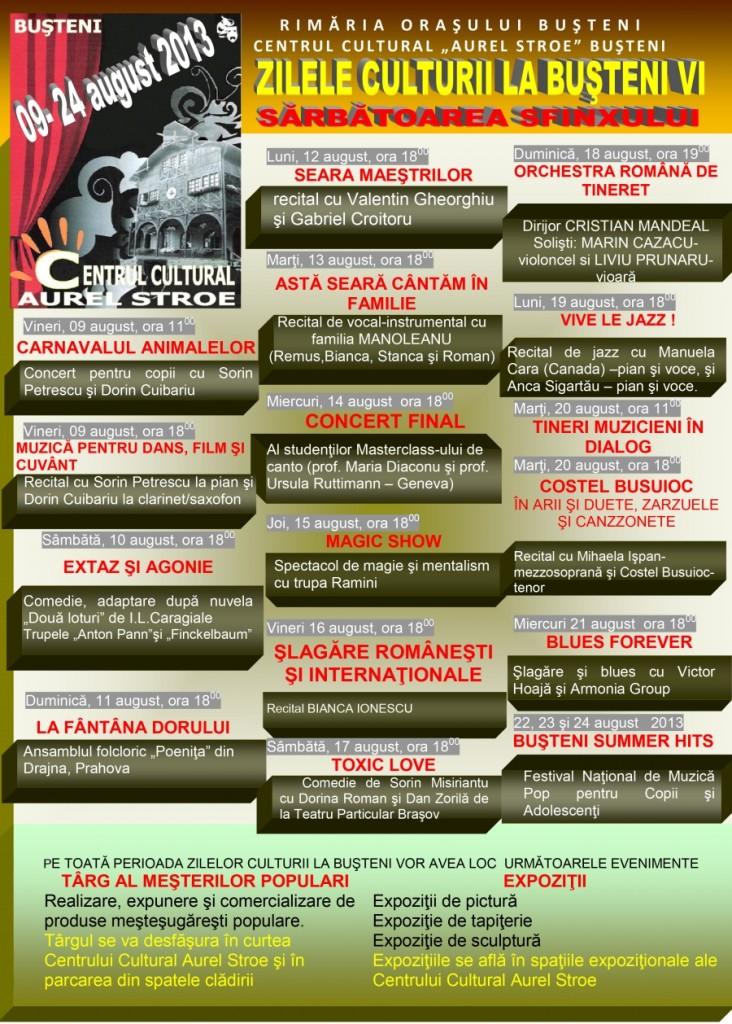 Artisti Zilele Culturii din Busteni 2013